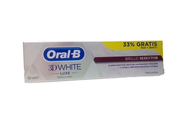 ORAL-B 3D WHITE LUXE BRILLO SEDUCTOR 75ML + 25ML